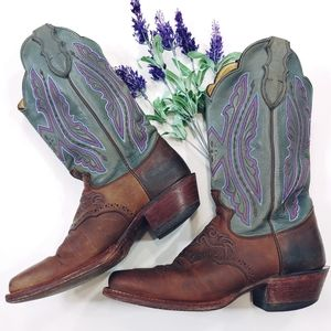 Vintage JUSTIN BOOTS - TALL Western Cowgirl Sz.6.5